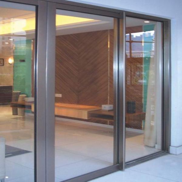 Potencia aluminio vidrio puerta corredera puertas correderas de vidrio incombustible - Puertas de aluminio correderas ...