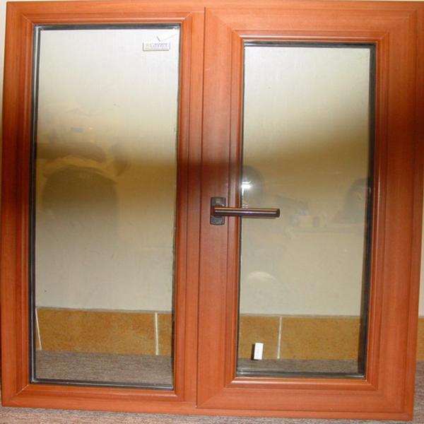 Ventana de marco de madera de aluminio de doble marco,reemplazo de ...