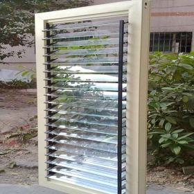 fixed glass shutters