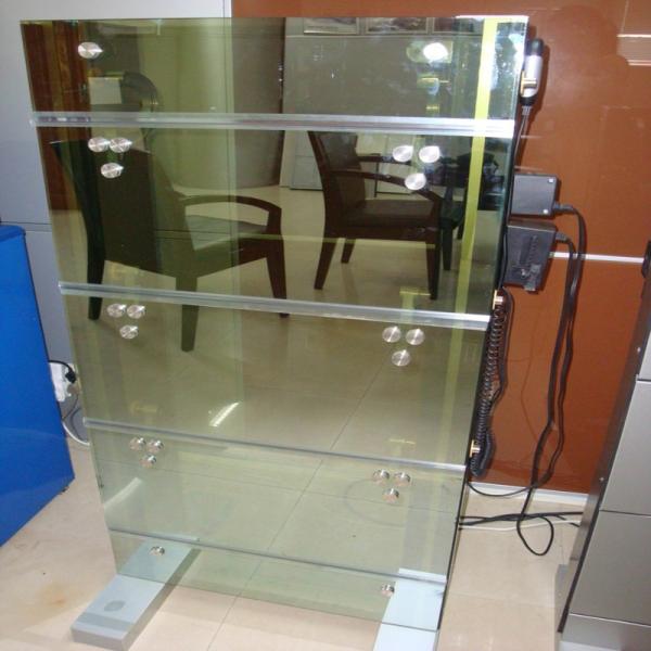 Ventana de persianas de aluminio resistente al agua cristal ...