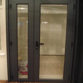 Aluminio aislado puertas abatibles puerta abatible - Puertas acristaladas exterior ...