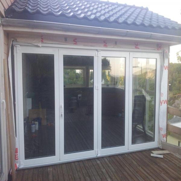 Puertas plegables de aluminio insonorizadas externos puertas plegables de aluminio exterior - Puertas plegables de aluminio ...