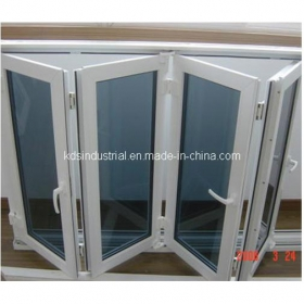Burglar proof window of glass and grey aluminum outer profiie online